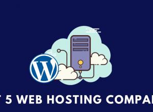 Best 5 web Hosting companies