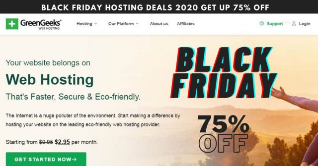 GreenGeeks Black Friday Hosting Deals