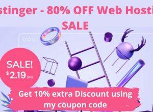 Hostinger - 80% OFF Web Hosting SALE